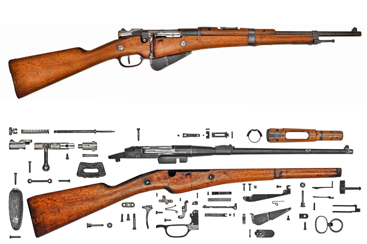 Anatomy-Rifle-French-Berthier-Mle1916-Carbine