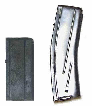 Karabinki M1, M2 i M3 mogą być zasilane z magazynków o pojemności 15 oraz 30 naboi